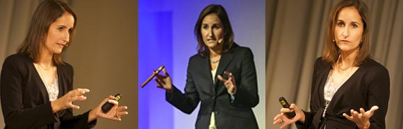 Speaker Nicole Schillinger beim Vortrag über Reputation, Reputationsrisiko und Reputationsverlust